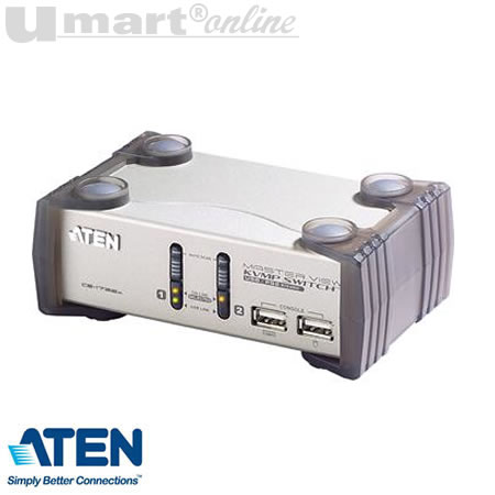 Aten CS-1732A 2Port  USB KVMP Switch w Audio & usb 1.1 Hub