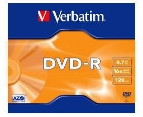 Verbatim DVD-R 4.7GB 1PK Jewel Case 16x