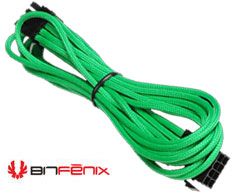 BitFenix Sleeved 8-Pin VGA Card Power Extension Cable , 45CM, GREEN/BLACK