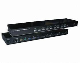 PCT-MU81X, 8 Port USB&PS/2 (Combo) Rack Mounted Design KVM Switch , 8 x pc to 1 x user, 4 x KVM cabl