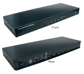 PCT-MU161X, 16 Port USB&PS/2 (Combo) Rack Mounted Design KVM Switch , 16 x pc to 1 x user, 8 x cable