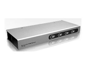Aten 4 Port Slimline PS/2 KVM Switch - Cables Included