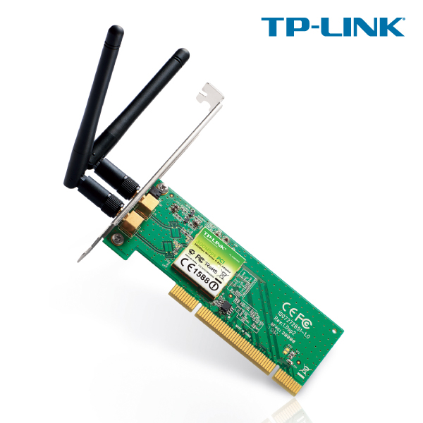 TP-LINK TL-WN851ND 300Mbps Wireless N PCI Adapter, Atheros, 2T2R, 2.4GHz, 802.11n/g/b, with 2 detach