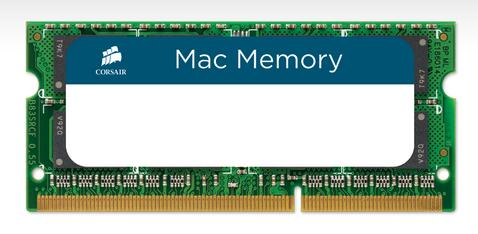 Corsair 8GB (2x4GB) CMSA8GX3M2A1066C7 Mac Memory, 1066MHz C7 DDR3 SO-DIMM for Apple iMac, MacBook an