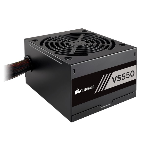 Corsair  VS550 550W  ATX Power Supply, 120mm fan, 2x (6+2)pin PCIE, 4x SATA, 4x Molex, Single R