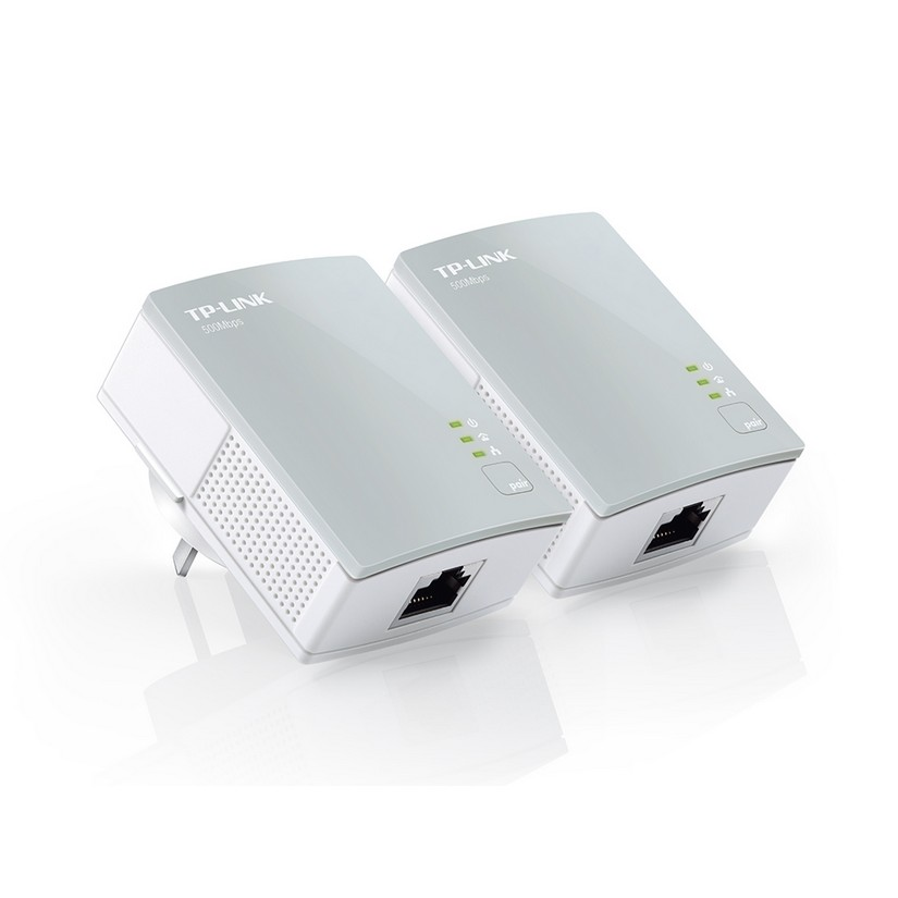 TP-Link TL-PA411 AV500 Mini Powerline Adapter Starter Kit, up to 500Mbps with 10/100Mbps Ethernet Po