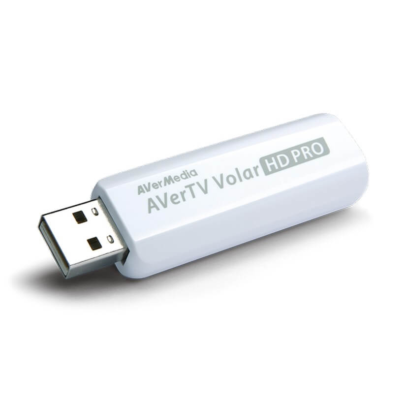 AVerMedia A835G Volar-HD Green is USB DVB-T Freeview TV Tuner with remote control and mini antenna.