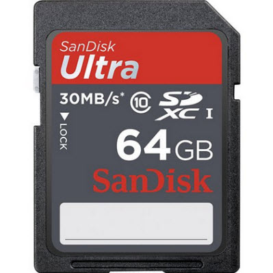 Secure Digital Card 64Gb Ultra SDXC UHS-I Sandisk