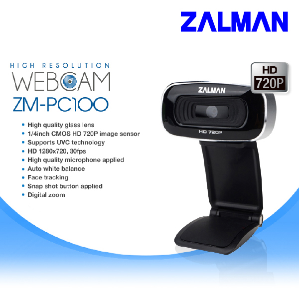 Zalman PC100 HD 720P Web Cam