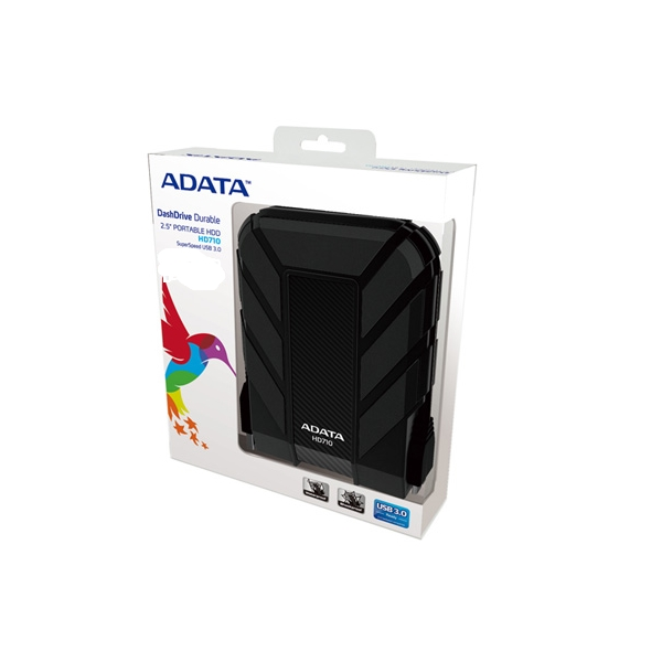 ADATA HD710C Durable Waterproof Shock Resistant 1TB USB3.0 External HDD Black