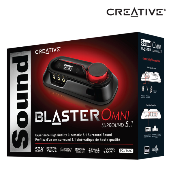 Creative Sound Blaster Omni Surround 5.1 with USB simplicity and portability for PC or Mac, Dolby®