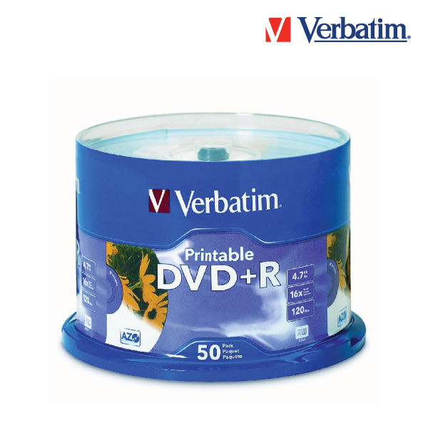 Verbatim 95136 DVD+R 16x White Inkjet Printable 50sp