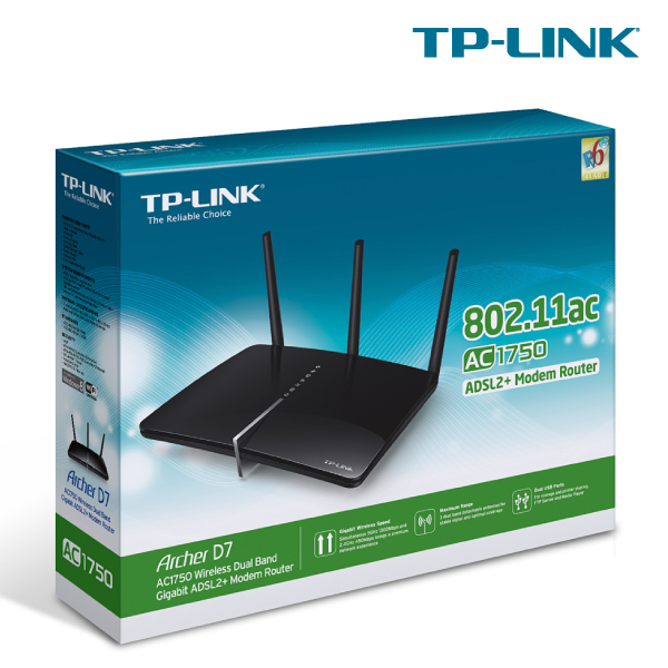 TP-LINK Archer D7 Wireless AC1750 Modem Router