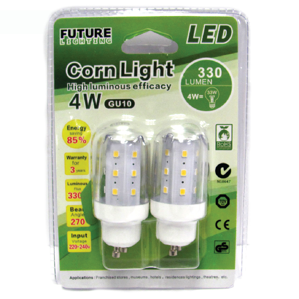 LED Corn Light 4W 5000K /2 Pack GU10