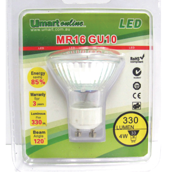LED GU10 MR16 Spot light 4000K 4W/1Pack