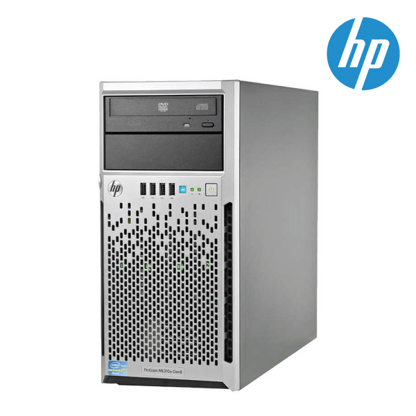 HP 725156-015 ML310G8E E3-1220V3(1/1) 4GB (1/4) 500GB-SATA(1/4)-3.5NHP,B120I DVD TWR