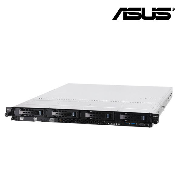 ASUS RS300-E8-PS4 1U Rack Barebone Server, (NO CPU, RAM, HDD), LGA1150, Intel C224, 4 Bay hot-swap S