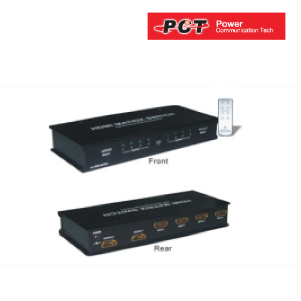PCT-MH423, 4 x input HDMI F, 2 x output HDMI F, maintains up to 1080i/1080p, with remote control.