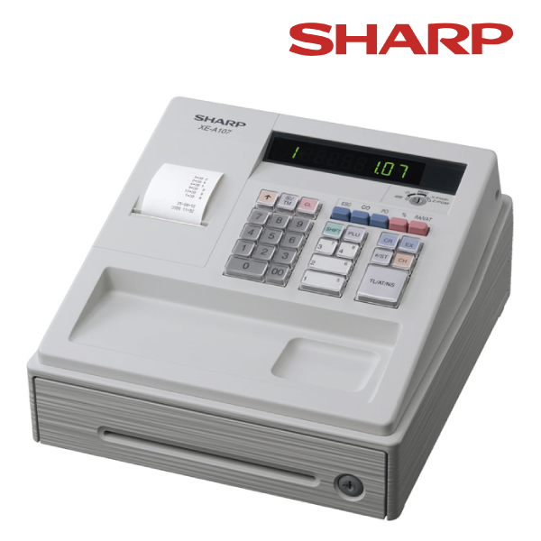 Sharp XEA107 White - Entry Level Cash Register