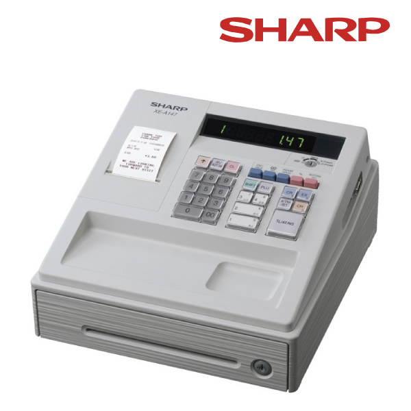 Sharp XEA147 White - Entry Level Cash Register