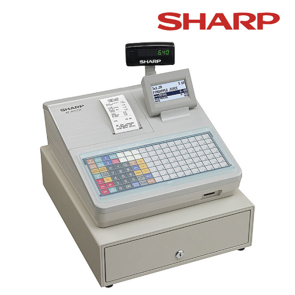 Sharp XEA217W Cash Register with Flat Keyboard/White