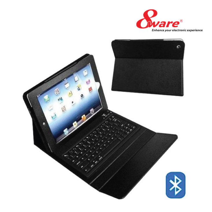 8ware iPad Case Folio with Bluetooth Keyboard + Accessories