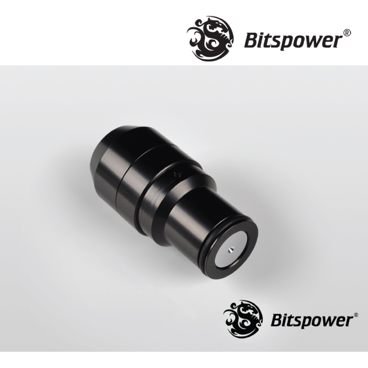 Bitspower Matte Black Quick-Disconnect Male Fitting