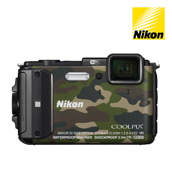 Nikon Coolpix AW130 Compact Digital Camera - Camo