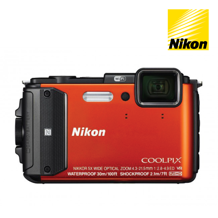 Nikon Coolpix AW130 Compact Digital Camera - Orange