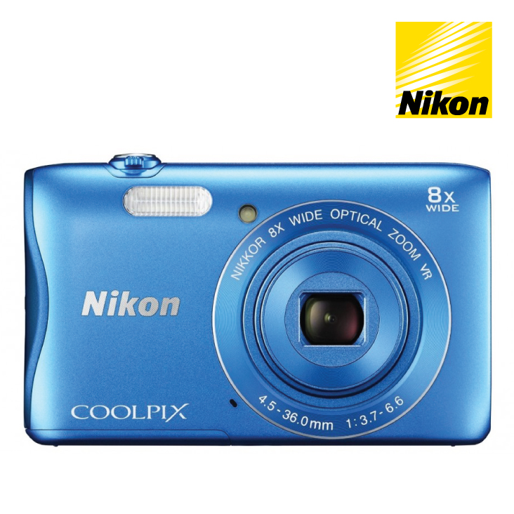 Nikon Coolpix S3700 Compact Digital Camera - Blue
