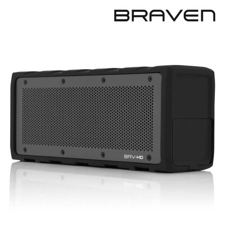 Braven BRV-HD Portable Wireless Speaker 8800mA - Black/Grey