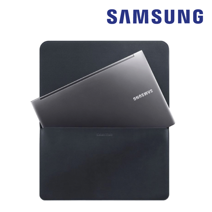 Samsung Slim & Light Leather Pouch Black for 15inch Notebooks