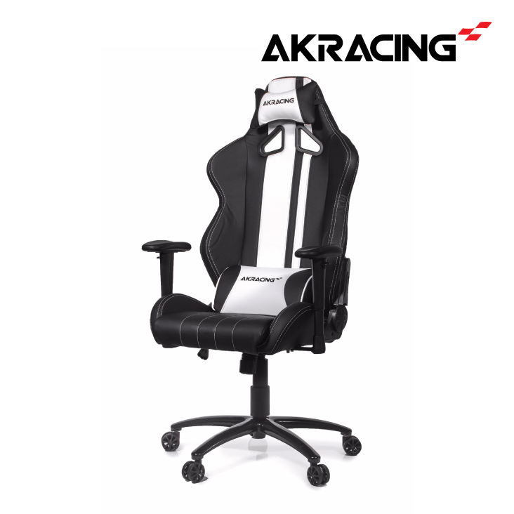 AKRacing Rush Gaming Chair Black White