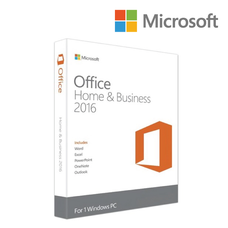 Microsoft Office 2016 Home and Business 1 User, 1 Device Retail Pack - NO DVD