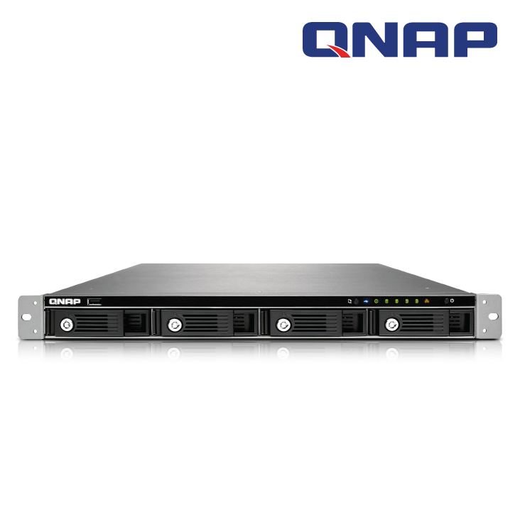 QNAP TS-451U NO RAIL 1U RACK NAS 2.4GHZ INTEL CELERON DUAL CORE 4X SATA6 HDD MAX, 1GB DDR3 RAM