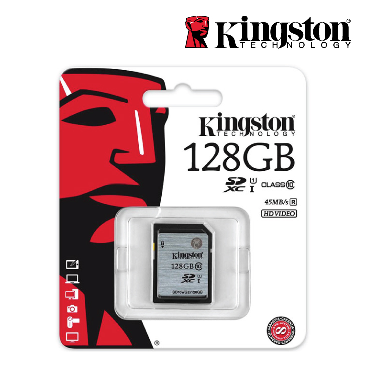 Kingston 128GB SDHC Class 10 UHS-I 80MB/s Read Flash Card Retail