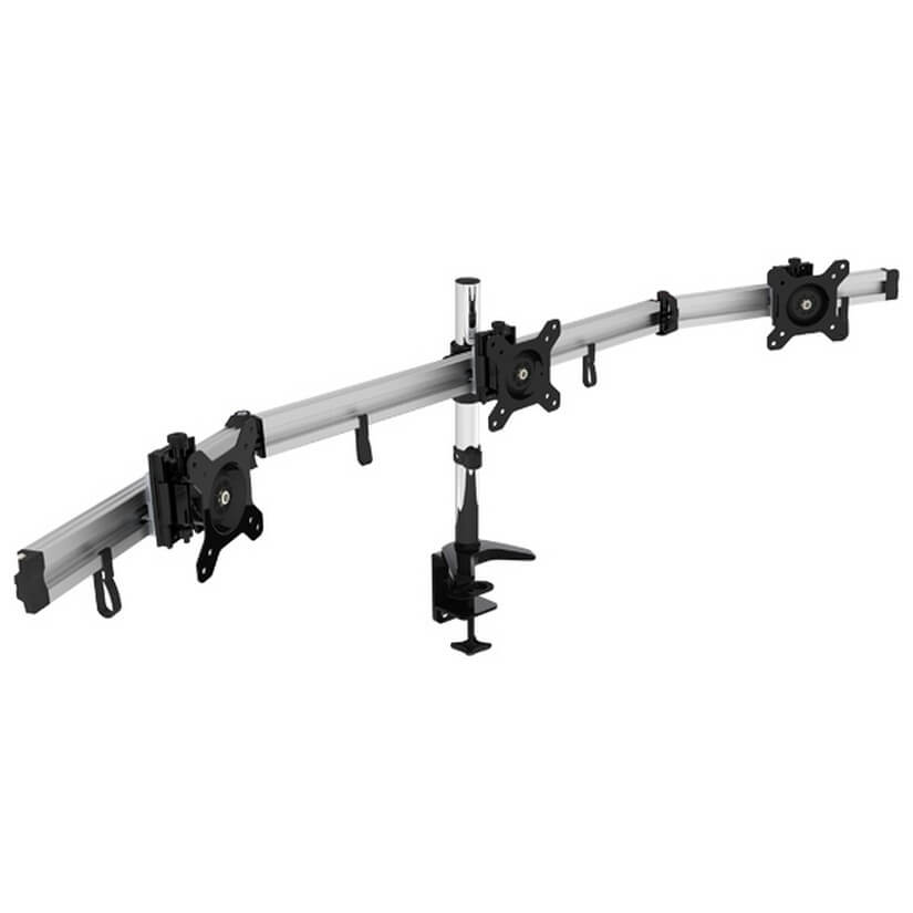 VisionMount VM-MP230C-EX Desk Clamp Aluminium Three LCD Monitor Support up to 24""