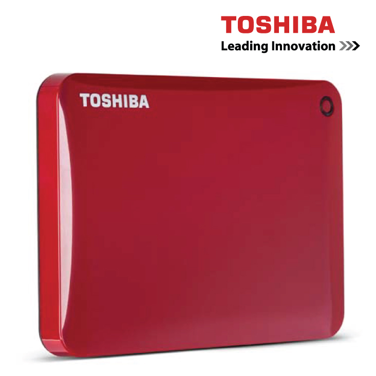 Toshiba 1TB External Hard Drive Canvio Connect Red