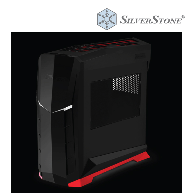 SilverStone Raven RVX01 Black/Red Mid Tower Case w/Side Panel Window