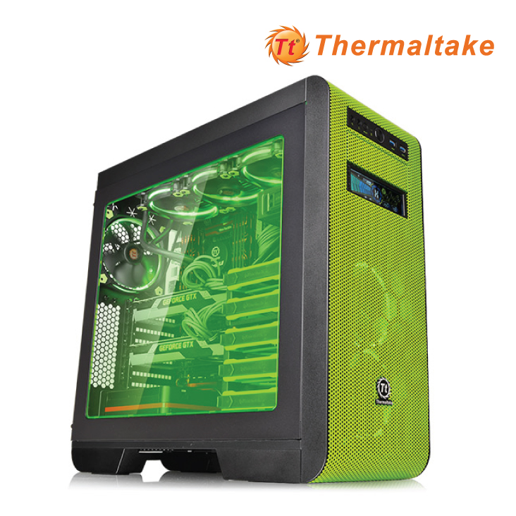 Thermaltake Core V51 Riing Green ATX gaming Mid Tower Case