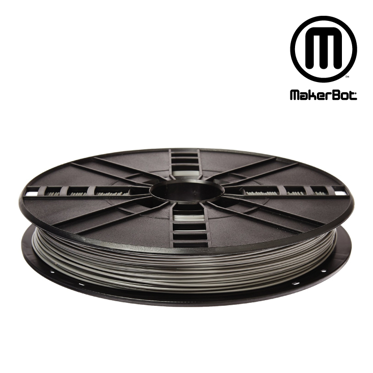 MakerBot PLA Filament, 1.75mm, 0.2kg, Small Spool, Cool Gray