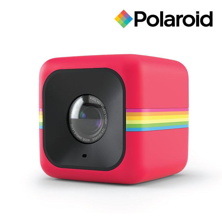 Polaroid Cube Sports Action Camera Red - 1080p Video & 6MP Photos