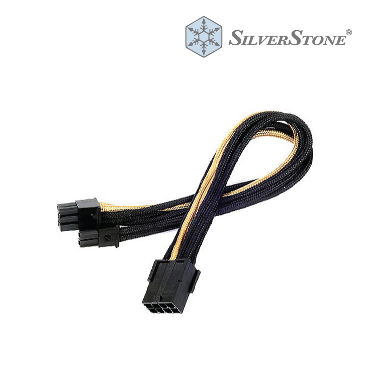 Silverstone SST-PP07-PCIBG 8 Pin to PCIE 6+2Pin Black/Gold