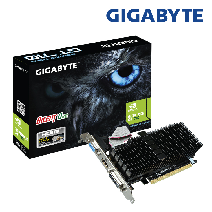 Gigabyte GeForce GT 710 Silent Low Profile 2GB Video Card