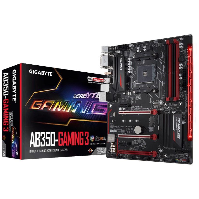 gigabyte ga ab350 gaming 3 am4 motherboard