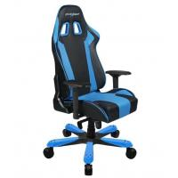 DXRacer King (KS06) Series Gaming Chair, Neck/Lumbar Support - Black & Blue