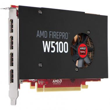 Sapphire AMD PCIE FirePro W5100 4GB, 4H (4xDP), Single Slot, 1xFan, ATX