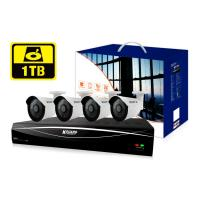 KGUARD KG-HD881-4C1T 8-CH Hybrid DVR -1080P/720P/960H/ Onvif IP cam support & 4 x WA713A with 1TB HD