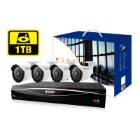 KGUARD HD481 4-CH Hybrid DVR -1080P/720P/960H/ Onvif IP cam support & 4 x WA713A with 1TB HDD