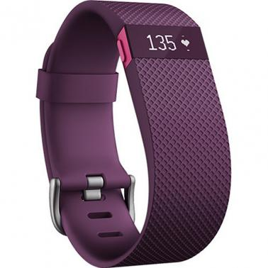 Fitbit Charge HR Heart Rate Activity Wristband Small Plum